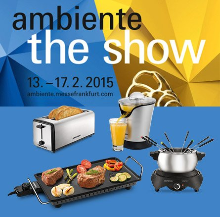 The brand of small appliances Mondial arrive in Europe and makes his presentation in Europe at the Ambiente Fair in Frankfurt 2015