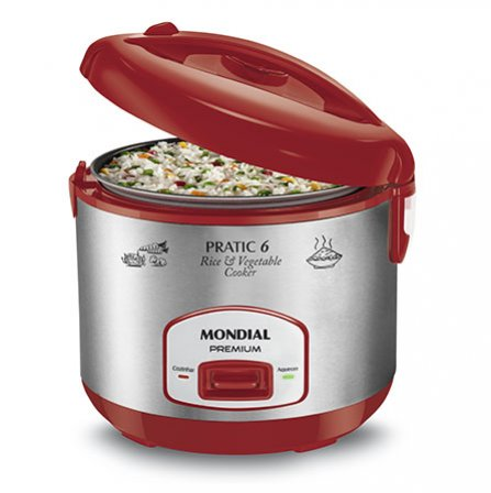 Mondial Pratic 6 Red Premium PE-35 is a rice and vegetables cooker