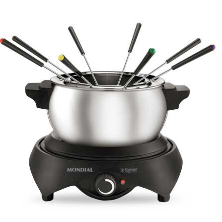 Mondial Le Gourmet Fondue FD-01 is a high quality stainless steel fondue with 8 fondue forks