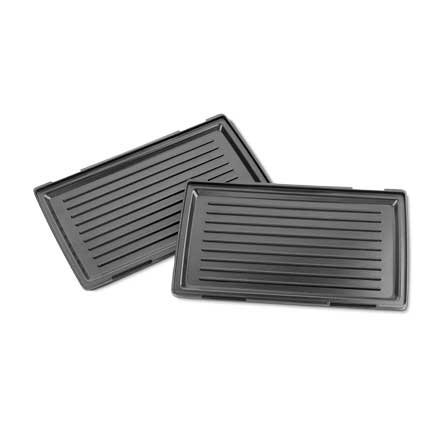 Removable non-stick grill plates of Mondial Inox Grill Premium S-15