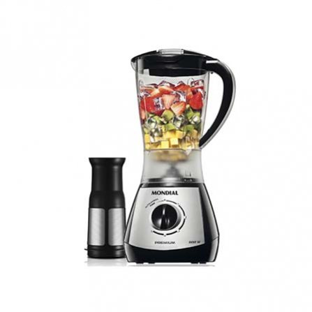 Mondial Premium Silver Blender L-51, blender with glass jar 1.5L and seed filter to get a juice without pulp
