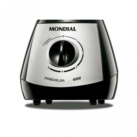Mondial Premium Silver Blender L-51 with 5 speeds + pulse