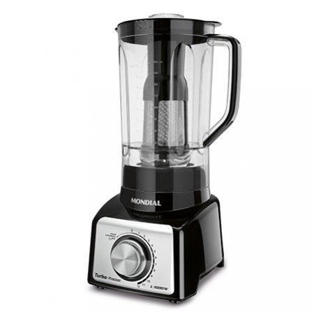 Professional Mondial Turbo Premium Blender L-1000B black color and with highly resistant polycarbonate jar 3L