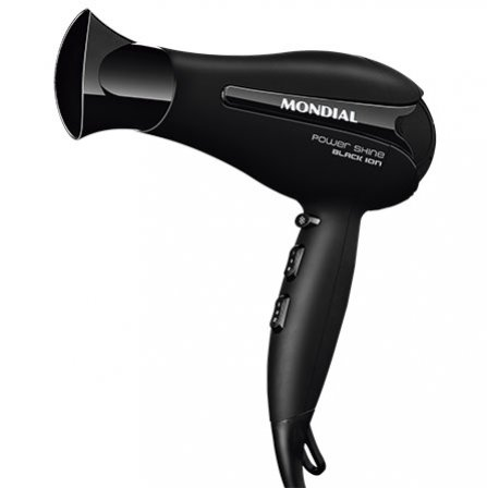 Mondial Power Shine Black Ion Hair Dryer SC-23 with concentrator nozzle