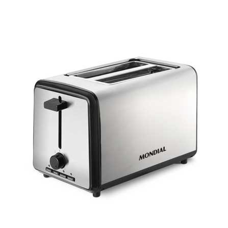 Mondial 2 Slice Toaster T-09 is a modern High Quality stainless steel toaster