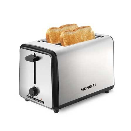 Mondial 2 Slice Toaster T-09 is a modern toaster with 2 extra-wide slots
