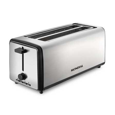 Mondial 4 Slice Toaster T08 is a modern extra long toaster