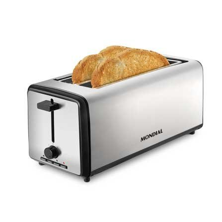 Mondial 4 Slice Toaster T08 is a toaster with 2 extra-wide slots for 2 large slices