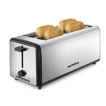 Monsdial Smart Day 4 Slice Toaster T08 is a modern extra long toaster with 2 extra-wide slots 38 mm