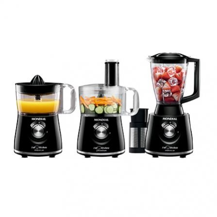 Mondial Full Kitchen Premium MNP 08, 3 in 1: Food processor, blender and juicer