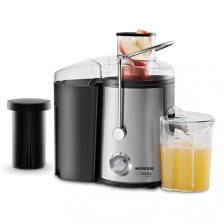 Mondial Turbo Juicer CF-06 is a High Quality stainless steel centrifugal juicer with pulp container and protective cover