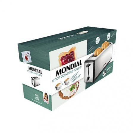 Monsdial Smart Day 4 Slice Toaster T08 is a modern extra long toaster for 2 large slices or 4 small slices